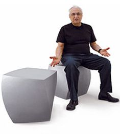 frank gehry twist cube Design Frank Gehry, 2004 One piece roto molded polymer Made in the USA by Heller Frank Gehry, Green Furniture, Modern Furniture, Cube Design, Unique Home Decor, Foto E Video, Outdoor Chairs, Architecture Design, Modern Design