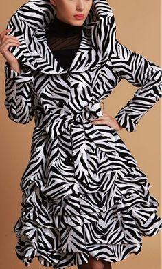 Zebra Print Ruffle Jacket