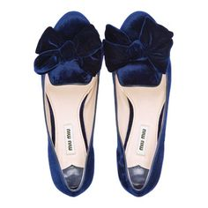 miu miu - velvet slipper with bow jeweled heel