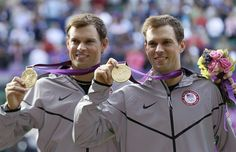 The Bryan brothers won gold on Saturday with a straight sets victory on Centre Court, August 4, 2012.