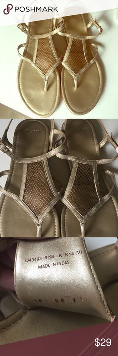 ⭐️flash sale⭐️Cole Haan Gold Sandal Worn once! And not for long! No major signs of wear. Size 9M. No box. Cole Haan Shoes Sandals