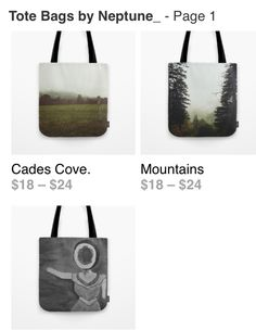 Tote bags! nature,neutral milk hotel,art,fresh air,mountains,pine trees