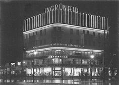 BERLIN 1929 Kurfürstendamm 227, Ecke Joachimstalerstrasse bei Nacht