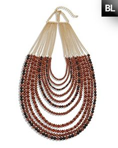 YES!!! Try neutral combo AND bold color combos! Chico's Black Label Neutral Multi-Strand Necklace #chicos