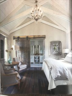Most Beautiful Rustic Bedroom Design Ideas. You couldn't decide which one to choose between rustic bedroom designs? Are you looking for a stylish rustic bedroom design. We have put together the best rustic bedroom designs for you. Find your dream bedroom. Modern Farmhouse Bedroom, Farmhouse Master Bedroom, Master Bedroom Design, Home Decor Bedroom, Modern Bedroom, Girls Bedroom, Farmhouse Style, Rustic Farmhouse, Bedroom Designs