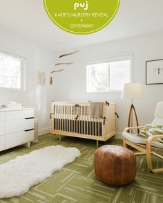 Puj founder, Katie, is celebrating the arrival of her baby girl with a gorgeous nursery reveal, including awesome discounts on her favorite room essentials - featuring a Spot On Square Ulm Crib.