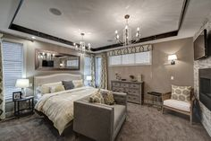 Fabulous master bedroom with all the bells and whistles!