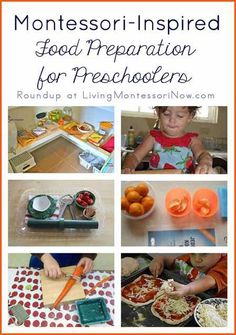 Practical life activities make up one of the most important areas of Montessori education, helping with order, concentration, coordination, and independence. And most preschoolers LOVE practical life activities that involve food preparation! Montessori Toddler, Montessori Homeschool, Montessori Classroom, Montessori Activities, Toddler Preschool, Preschool Activities, Dinosaur Activities, Montessori Trays, Montessori Kindergarten