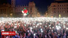 Thousands of anti-government demonstrators protested in Budapest against what they viewed as an unfair election, which gave Hungarian Prime Minister Viktor Orban a sweeping victory last week. Mass Migration, Major Events, Important News, Pictures Of The Week, Photo Journal, Victorious, Dolores Park, In This Moment, History