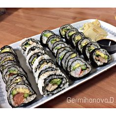 Instagram: Germihanova.d Fresh Rolls, Sushi, Ethnic Recipes, Instagram, Food, Meals, Yemek, Sushi Rolls, Eten