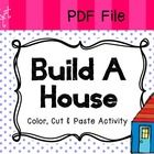PDF -  a simple color, cut and paste activity to learn basic rooms and furniture of a house. Enjoy!...