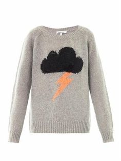 Elizabeth And James Raincloud intarsia-knit sweater