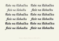 Baskerville od Storm Type Foundry s krásnou slovenskou ligatúrou fľ