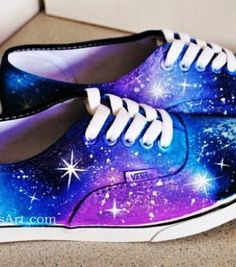 Galaxy Vans on Etsy Galaxy Converse, Diy Galaxy Shoes, Vans Converse, Vans Sneakers, White Sneakers, Grunge Style, Soft Grunge, Painted Vans, Painted Shoes