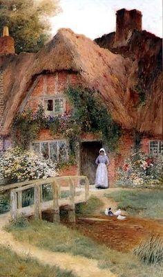 Watching the Ducks ~ Ernest Walbourn ~ (English: 1872-1927)