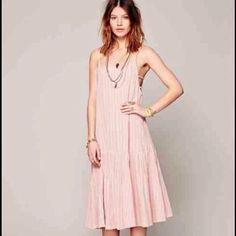 Free People Blush Maxi Dress . NWT. Pleated Skirt and adjustable straps . Beautiful maxi dress by Free People. Free People Dresses Maxi