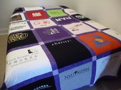 I make t shirt quilts too. www.recycledmemories.net