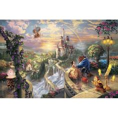 Thomas Kinkade Disney Beauty and the Beast I seriously would die if I had this. My dad would have totally gotten it!!! ❤❤❤❤it
