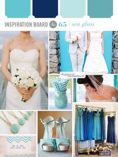 Sea glass wedding colors.