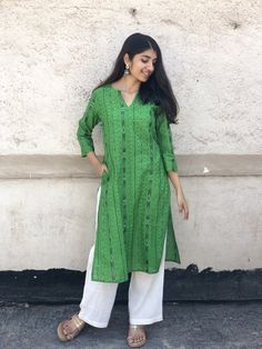 Leela Striped Ikkat Kurta