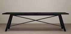 Railway Trestle Rectangular Table | Restoration Hardware