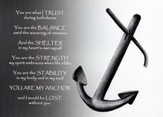 Anniversary Gift - Anchor Charcoal Drawing & Prose - Nautical Decor Love Gift in Gray - Unique Wedding Gift for Husband - Fine Art. $30.00, via Etsy.