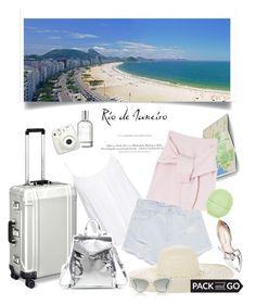 """Pack & Go to Rio"" by rever-de-paris ❤ liked on Polyvore featuring New Look, H&M, Zara, Oscar de la Renta, Jennifer Ouellette, ZERO Halliburton, (MALIN+GOETZ), Topshop, Loeffler Randall and Dita"