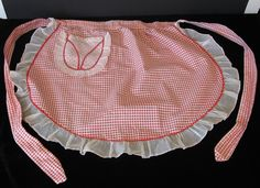 Red checked apron