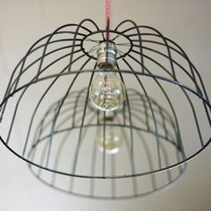 Learn how to make these wire basket lights.