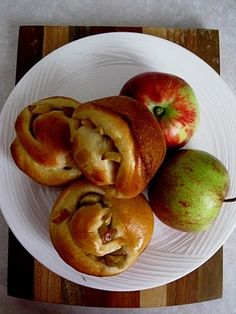 Challah Apple Rolls for Rosh Hashanah - Happy New Year