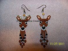 Handmade Seed Bead Brick stitch beaded Deer by EagleplumeCreations, $16.99