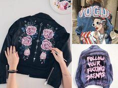 Casacos Customizados – Faça em casa os modelos pintados à mão, com dicas, vídeos e fotos de inspiração