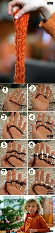 DIY : Quick Finger Knitting | DIY & Crafts Tutorials