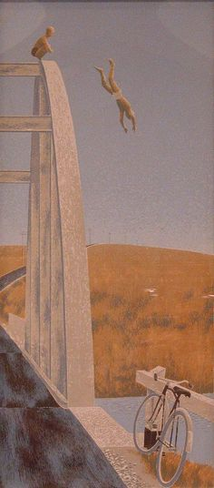 Painting by Alex Colville. Alex Colville, Rest, Magic Realism, Canadian Artists, Sketches, Fine Art, Paintings, Interiors, Style