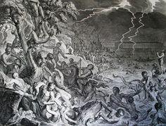 The Phillip Medhurst Picture Torah 53. Noah's Ark and the Deluge. Genesis cap 7 v 12. Hoet