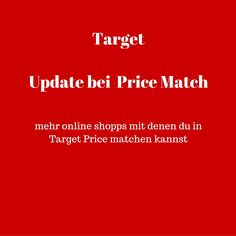 USA billig aber gut leben: Target update in den Price Match Regeln - mehr Onlineshops zum Pricematchen