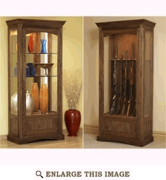 Convertible Display and Gun Cabinet