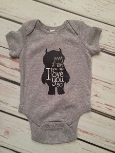 Where the wild things are bodysuit baby boy clothes, baby fashion, modern baby, trendy baby clothes by Twelve20Designs