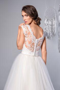 2f650a68fa Candy - Suknia Ślubna Koronka Piękne Plecy. Wedding Dress Lace Beautiful  Back  sukniaślubna