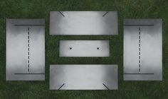 Stahl Firepit - Five pieces of quarter-inch steel, easy to assemble and store because it is not welded together. www.stahlfirepit.com