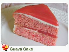 A little piece of Guava Cake goodness! Get more delicious Hawaiian food recipes here. Hawaiian Desserts, Hawaiian Recipes, Guava Desserts, Guava Recipes, Hawaiian Luau, Hawaiian Islands, Just Desserts, Delicious Desserts, Yummy Food