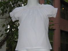 White Peasant Top  12M To 7 by FRANCISBEL on Etsy