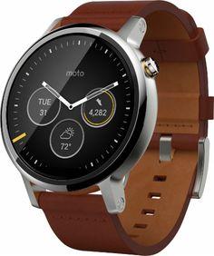 Motorola - Moto 360 2nd Generation Men's Smartwatch 46mm Stainless Steel…