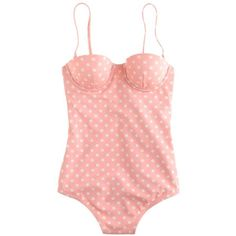 J.Crew Polka-dot underwire tank (165 BRL) ❤ liked on Polyvore featuring swimwear, bathing suits, swimsuits, tops, underwire swim suit, bathing suit swimwear, bathing suits underwire bra, j crew swimwear and j crew bathing suits