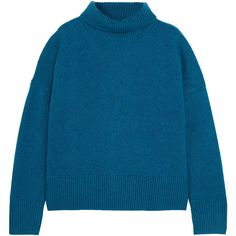 Vanessa Bruno Henriqua wool-blend turtleneck sweater (31.900 RUB) ❤ liked on Polyvore featuring tops, sweaters, blue, colorful sweaters, turtle neck top, blue sweater, turtleneck top and polo neck sweater