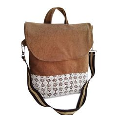 Embroidery Bags, Handmade Bags, Leather Backpack, Messenger Bag, Satchel, Backpacks, Crochet, Products, Fashion