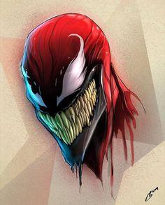 Drawing Marvel Comics New Venom Comics, Marvel Venom, Marvel Villains, Marvel Characters, Marvel Heroes, Spiderman Art, Amazing Spiderman, Venom Art, Marvel Tattoos