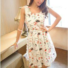 Sleeveless Decorative Design Skimmi       Beautiful Womens Fashion