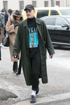 Street style at Berlin Fashion Week.