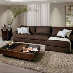 Decoration - Inspiration Relaxing Living Room Décor Ideas With Leather Sofa ~ Gorgeous House Sty Living Room Decor Brown Couch, Living Room Colors, Living Room Paint, Living Room Sets, Living Room Interior, Home Living Room, Living Room Designs, Loft Interior, Brown Home Decor